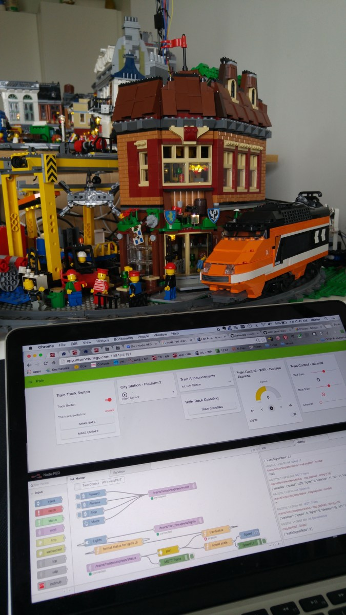 LEGO Train Automation - WiFi controlled with NodeMCU (ESP8266)