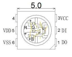 LED Schematic WS2812