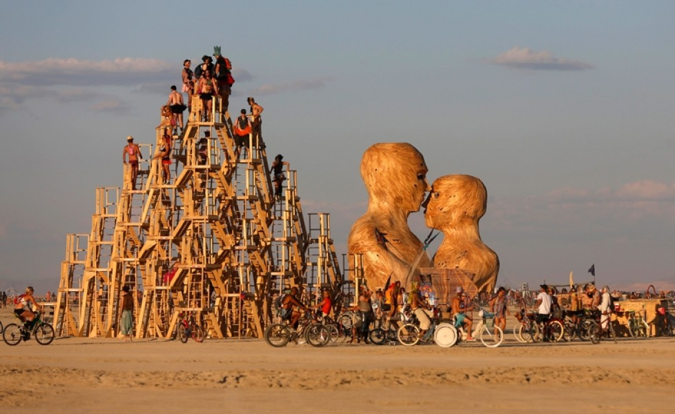Burning Man: the Nevada Festival in July in the Netherlands