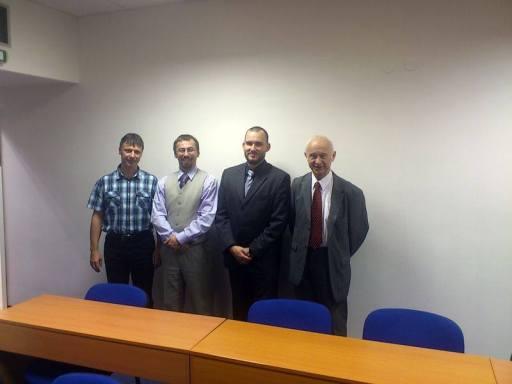 Zleva: Ing. Jan Pilný (Újezdnet), Miloslav Sova (Internet pro všechny), JUDr. Jan Kolouch (CESNET) a Doc. Ing. Miloš Schlitter, CSc. (Sitel)