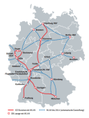 Obrázek 3: Trasy DB Bahn, zdroj (DB Bahn)