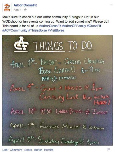 arbor crossfit location mention facebook update