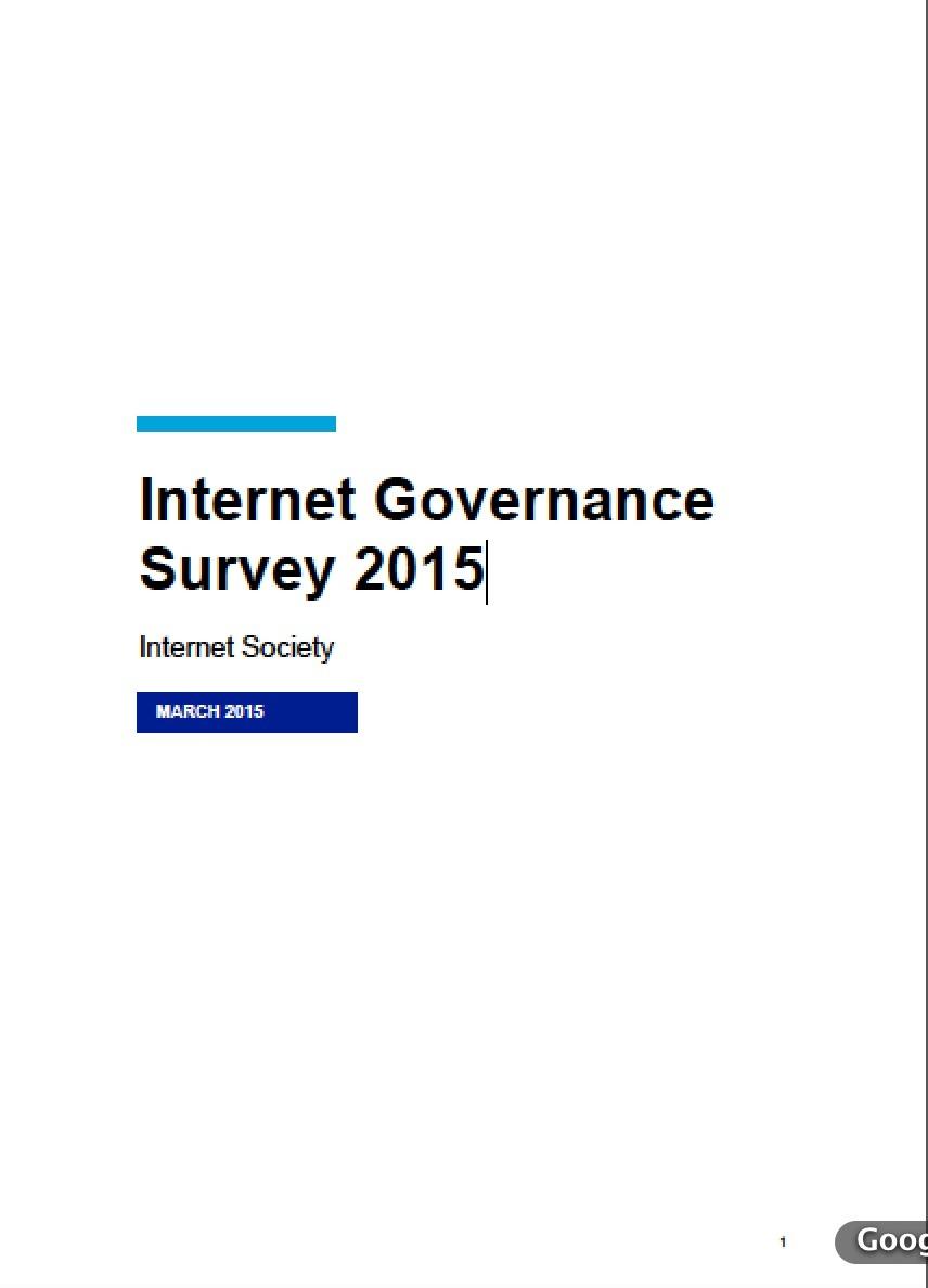 Internet Governance Survey 2015 Thumbnail