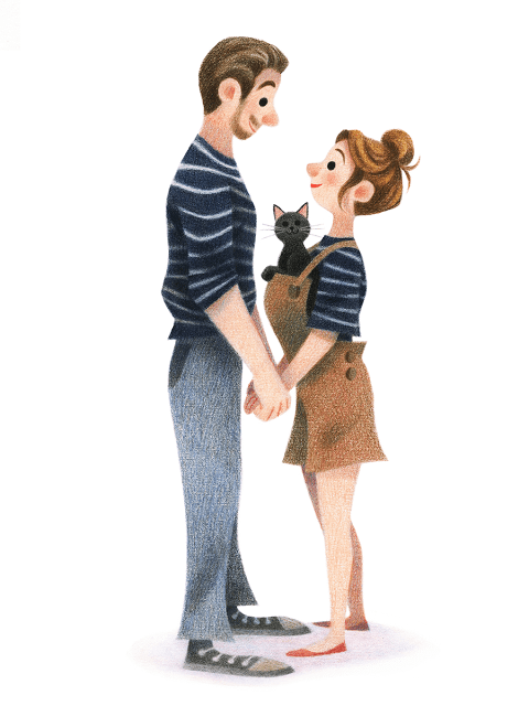 couple Illustration by Genevieve Godbout