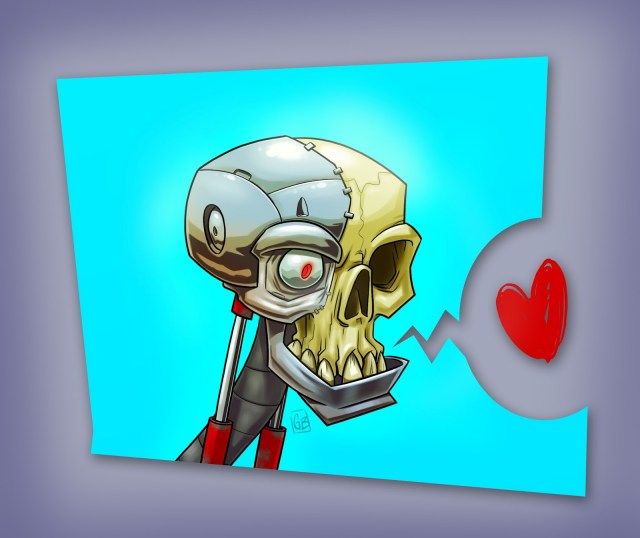 cyborgSkull-cartoon illustrations.