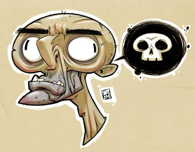 Cartoon illustrations by Gene Blakefield_oldmanjake_Institue of Art and Design.