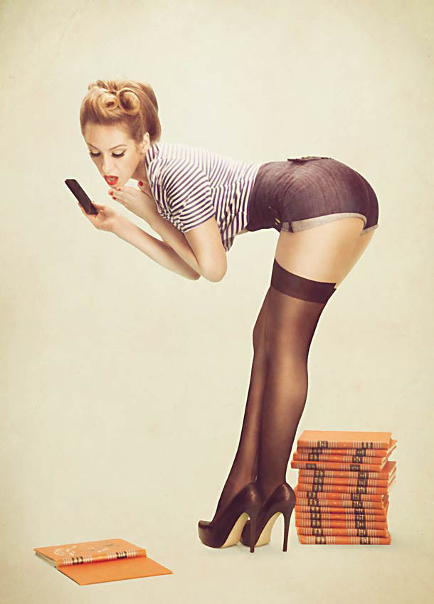 Vintage Pin-Up Girl Style