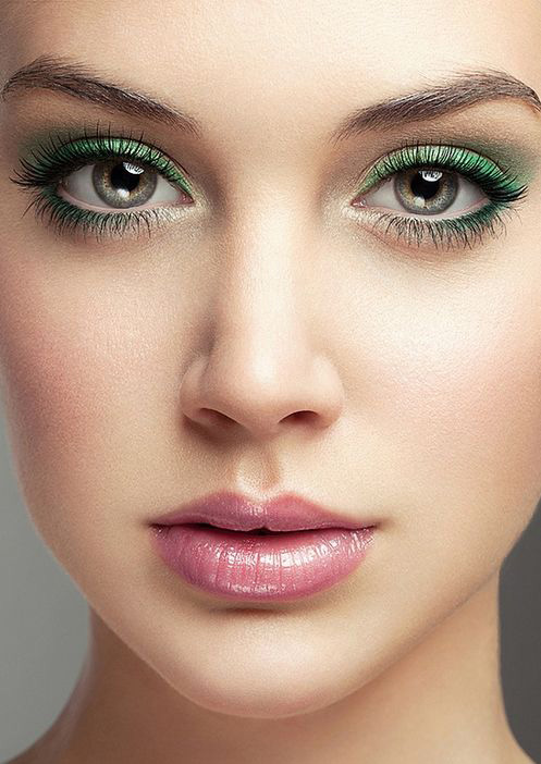 saint patricks day eye makeup