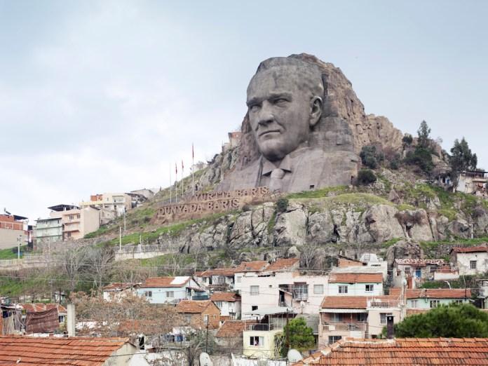 Ataturk Mask, Buca, Izmir, Turkey, 132 ft, built in 2009