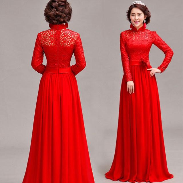 Asian-inspired-mandarin-red-Chinese-dress (4)