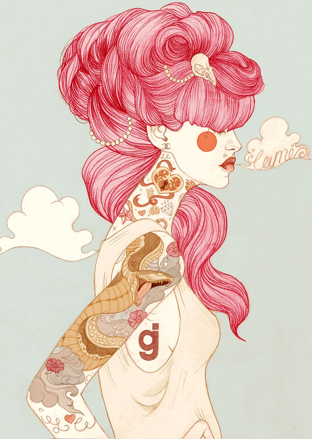 Tattoo inspired art by Liz Clements (13)