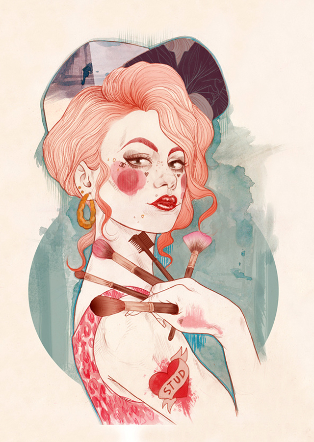 Tattoo inspired art by Liz Clements (3)