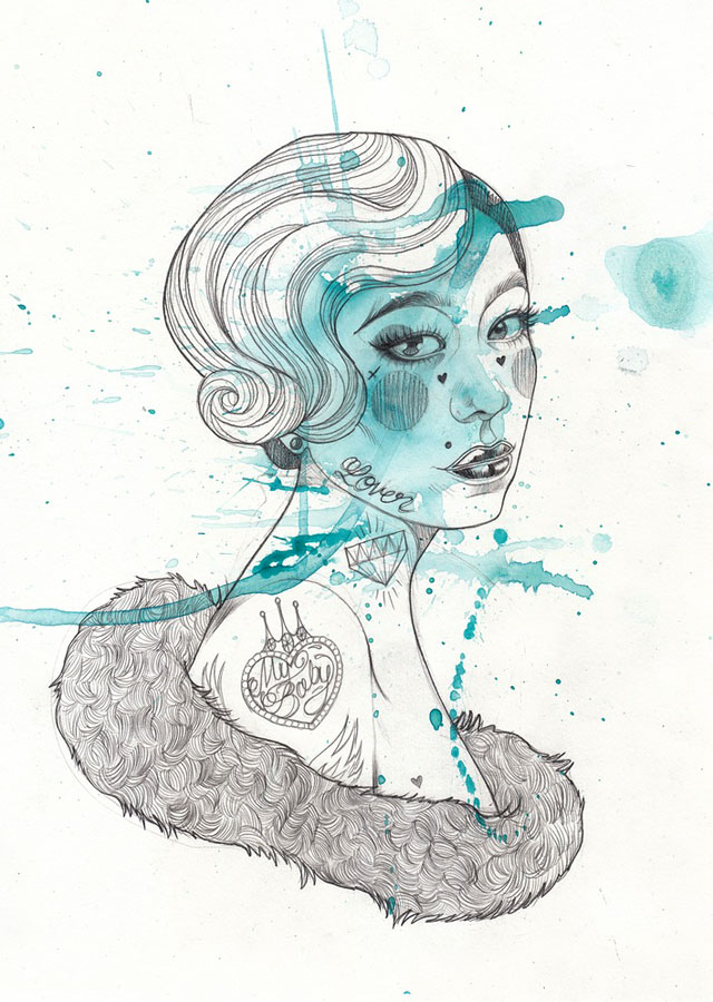 Tattoo inspired art by Liz Clements (8)