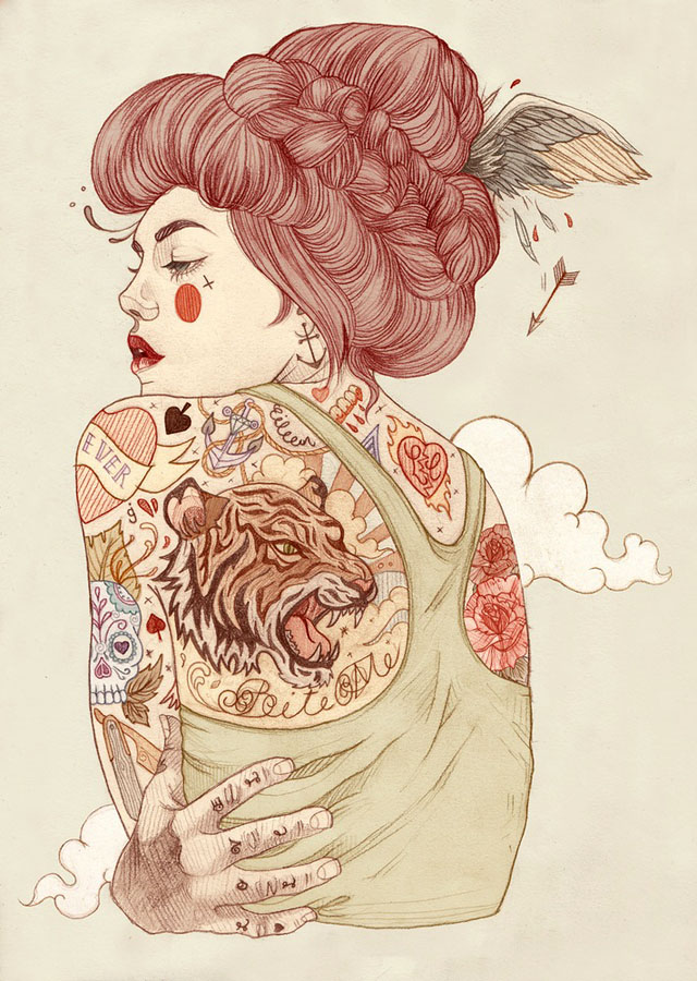 Tattoo inspired art by Liz Clements (9)