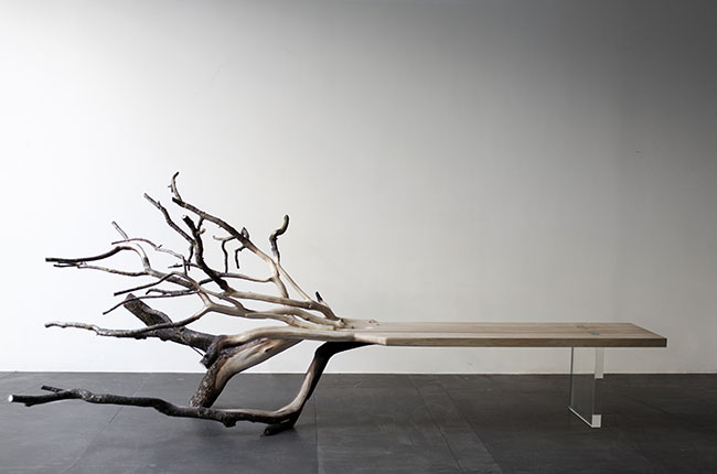 """""""FallenTree""""-bench-from-glass-and-the-remains-of-an-oak"""