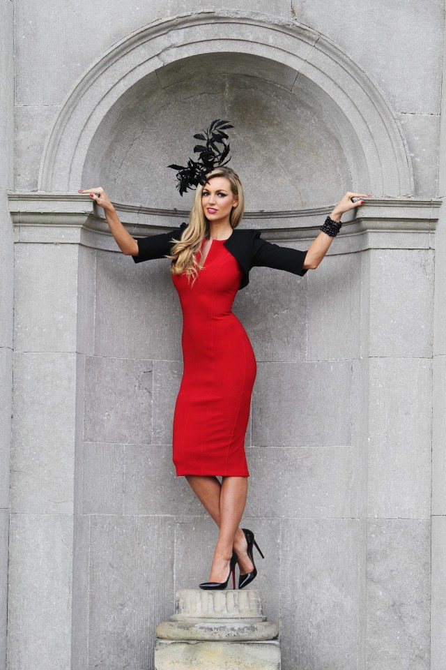 """MAXWELLS-NO FEE PICS ROUGE IS EN VOGUE AT THE 2011 Fairyhouse Easter Festival Carton House announce sponsorship of the Most Stylish Lady at The Ladbrokes Irish Grand National on Easter Monday 21-2-11 """"Lady in Red"""" Rosanna Davison was pictured today at the announcement that Carton House, one of Ireland's leading luxury hotels will once again be hosting the Most Stylish Lady competition in association with Ladbrokes taking place on Easter Monday, 25th April at Fairyhouse Racecourse, Co. Meath. Adding a dash of glamour and sophistication to the launch, Rosanna, who will be one of the judges on the day, put Irish ladies on course for a stylish day out at the races with her inspirational outfit incorporating a splash of rouge when she was pictured at Carton House.To celebrate Ladbrokes first year as sponsors of the Irish Grand National, 2011 sees a twist to the competition with the judging panel choosing a winner who adds a unique red element to her outfit…whether it's red shoes, red umbrella, something that makes the outfit pop with the most vibrant of colours as her inspiration.For more information and to make a booking visit www.cartonhouse.com or ph: +353 16517701.All race day information and hospitality details can be found on www.fairyhouse.ie or ph +353 1 8256167EndsFor Further information, interview requests and images please contactAlison Kelly 
