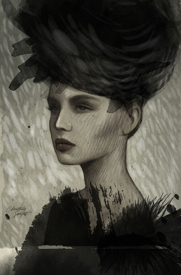 Woman_Portrait_Drawings-by_Christian_Sauget_5