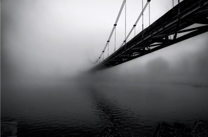 """Transylvania evening fog comes over the river"" by ferencboloni"