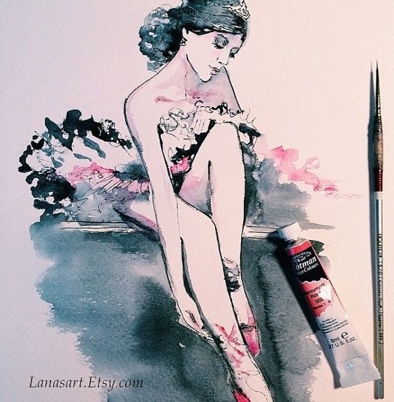 Paintings and Illustrations of Ballet Dancers (1)