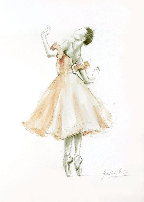 Paintings and Illustrations of Ballet Dancers (2)
