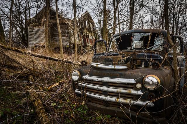 An abandoned house in Seneca Lake, New York.