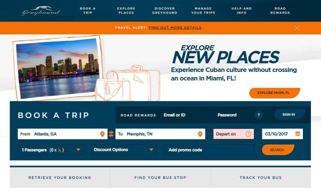 Travel to Memphis, TN by bus- greyhound