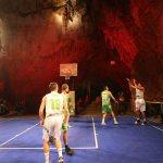 Basketball playground in Postojna Cave