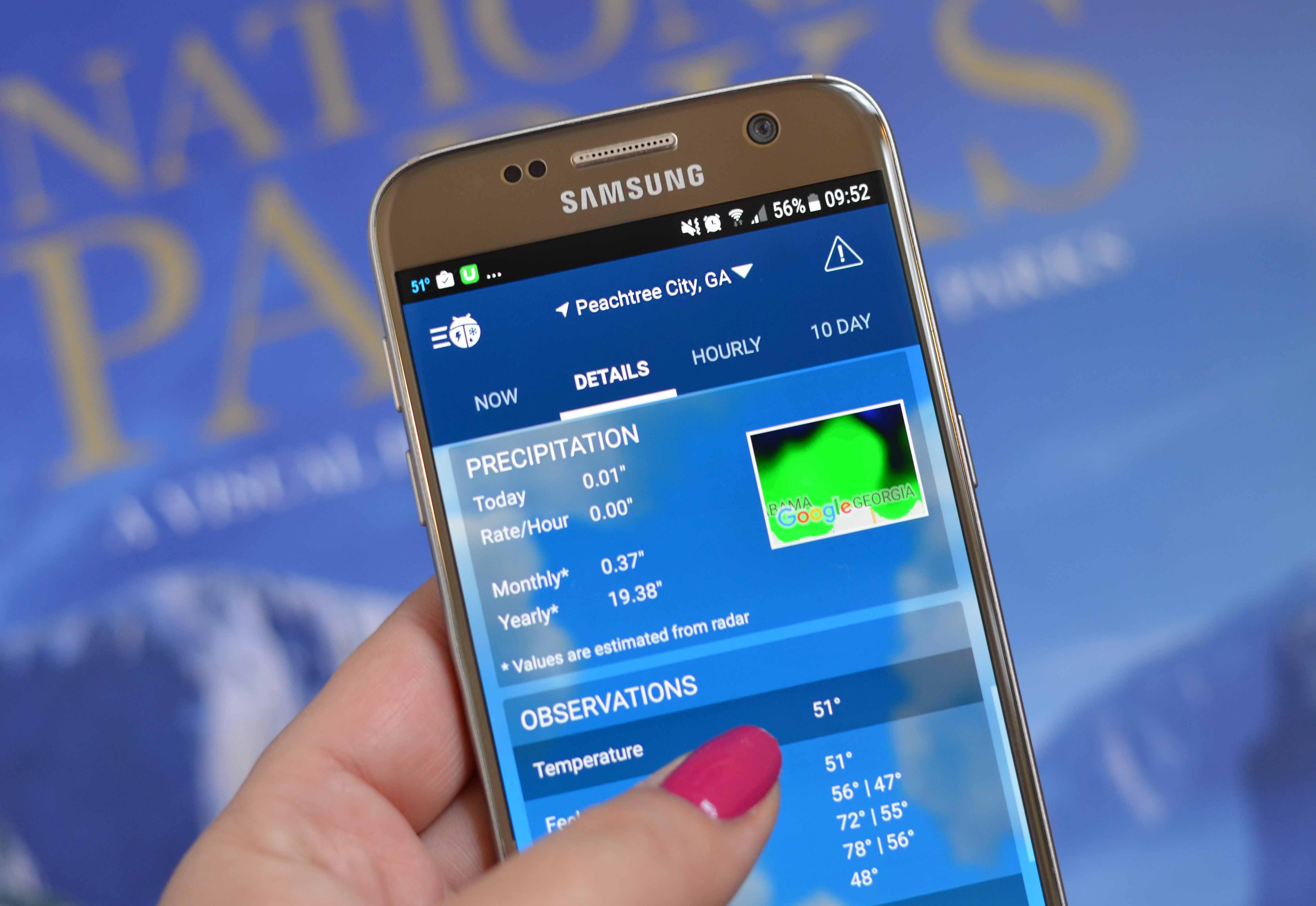 weather app - Weather by WeatherBug.
