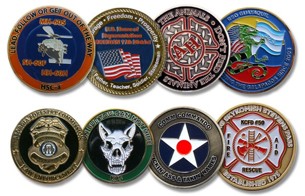 Design your Custom Challenge Coins to Impress your Customers or Friends!