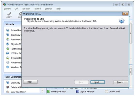 Free Transfer OS from HDD to SSD with AOMEI Partition Assistant 6.3