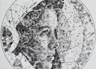 Ed Fairburn Creates Portraits on the Geographical Maps.
