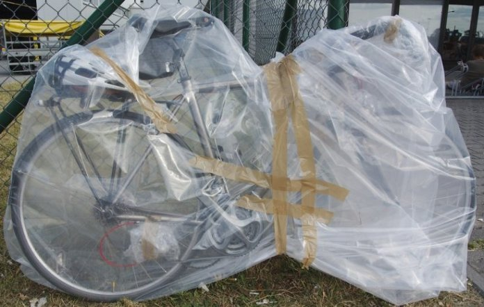 plastic bicycle bag