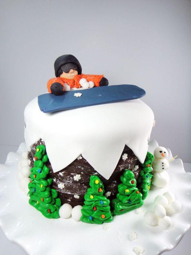 snowboarding cake ideas