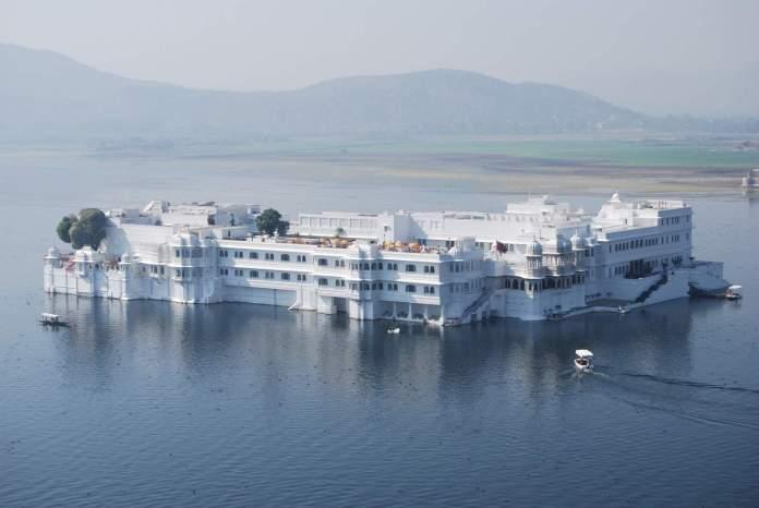 Taj Lake Palace Located on the Jag Niwas Island