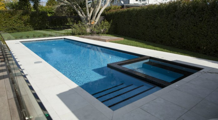concrete pool.