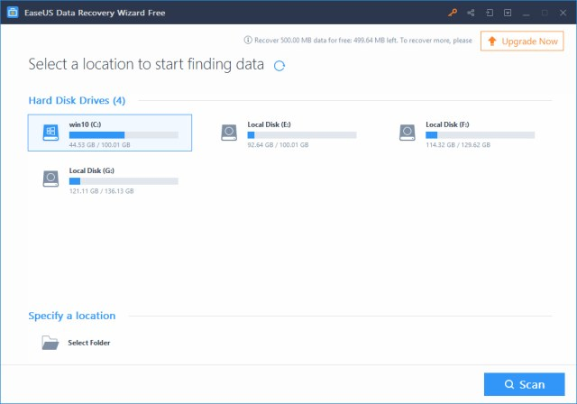 EaseUS Data Recovery Wizard Free – 1 recommended file recovery software