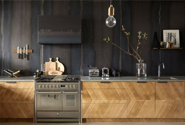Gold and copper accents Kitchen