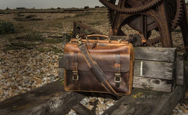 Leather Laptop Bag by I Medici Leather