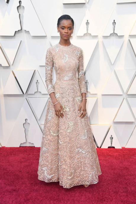 Letitia Wright Red Carpet Oscars 2019