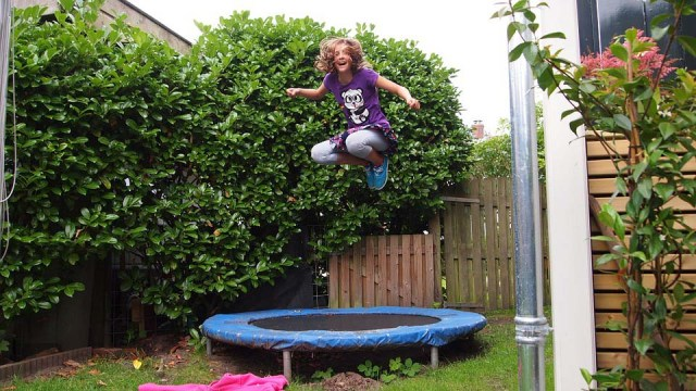 Trampolining forces