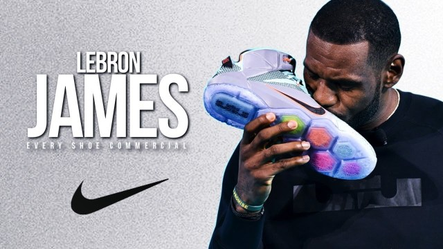 LeBron James the athlete advertises Nike since his 2003 start in the NBA.