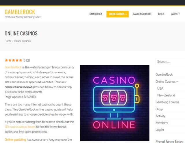 USA Online Casinos - Top 5 US Casino Sites (2019) - GambleRock.
