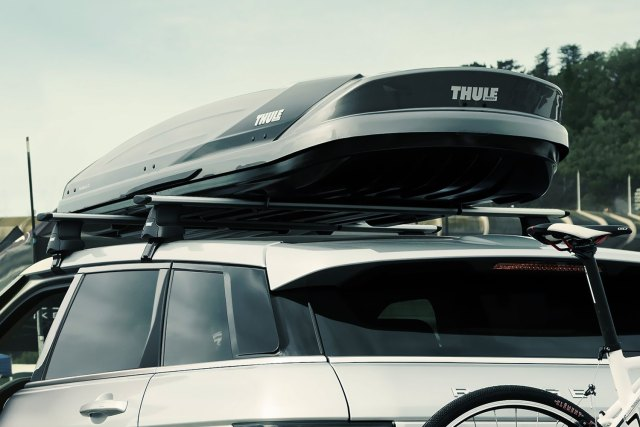 car with roof cargo carrier