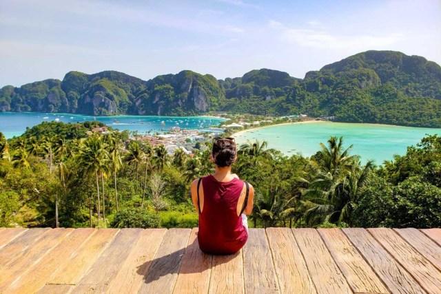hiking Phi Phi