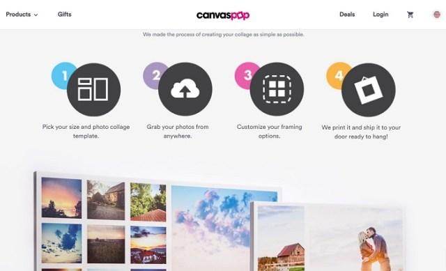 CanvasPop photo collages