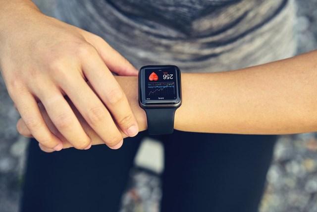 Fitness app on a versatile Apple Watch mockup