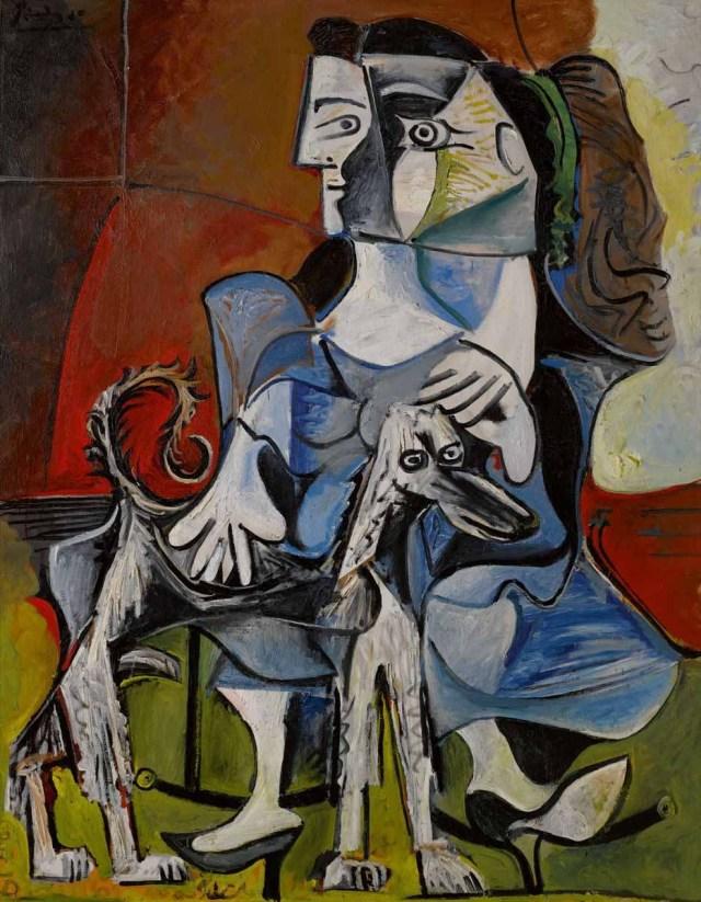 Pablo Picasso, Femme Au Chien, 1962