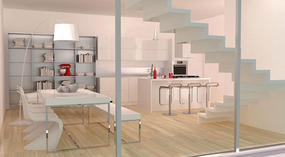 Progetto Di Casa Da 130 Mq Sviluppata Su Due Livelli