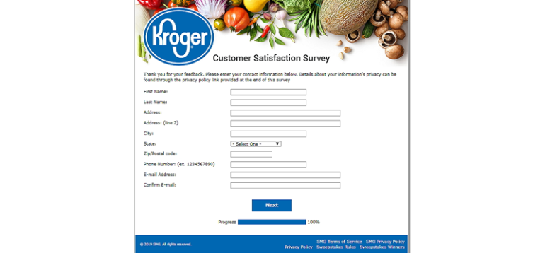 customer satisfaction survey at KrogerFeedback