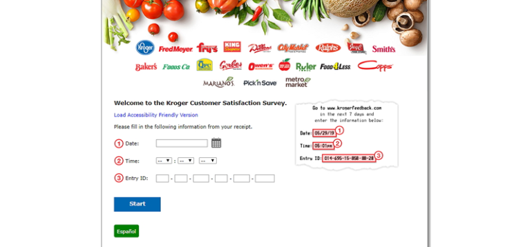 details regarding time of visit and date in KrogerFeedback should be accurate